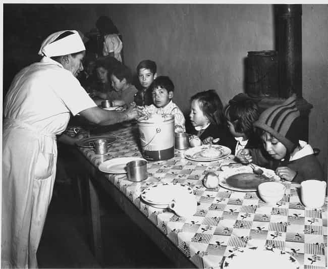 Hot Soup Lunch In New Mexico, ... is listed (or ranked) 4 on the list Here's What School Lunches Used To Look Like