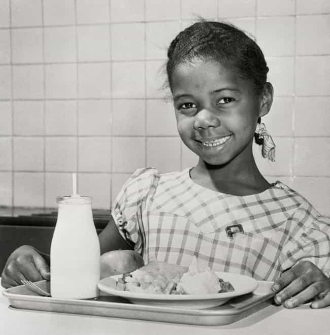 A Potato Surplus Provided Tast... is listed (or ranked) 3 on the list Here's What School Lunches Used To Look Like