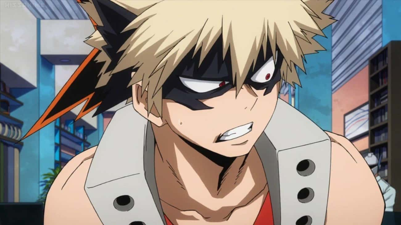 Katsuki Bakugo Thinks Izuku Mi is listed (or ranked) 3 on the list 15 Anime Characters With Major Jealousy Issues