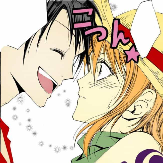 Luffy and Nami is listed (or ranked) 4 on the list The 15 Greatest One Piece Non-Canon Ships