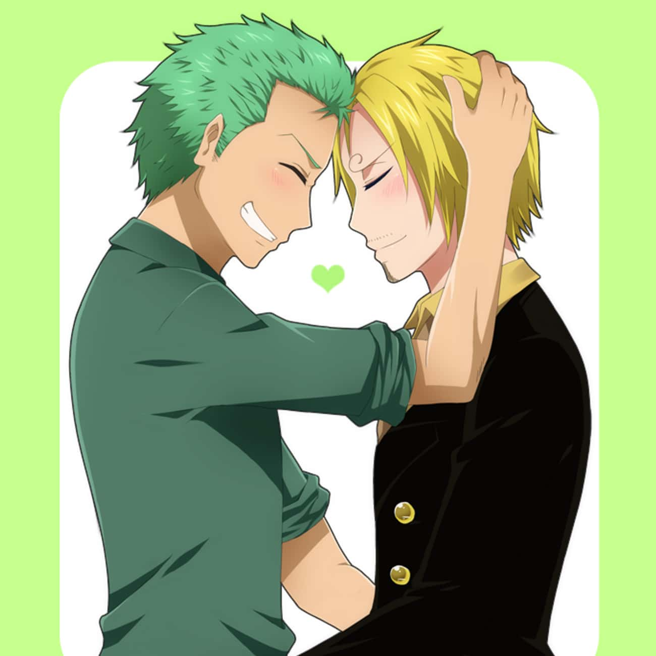 Zoro and Sanji is listed (or ranked) 4 on the list The 15 Greatest One Piece Non-Canon Ships