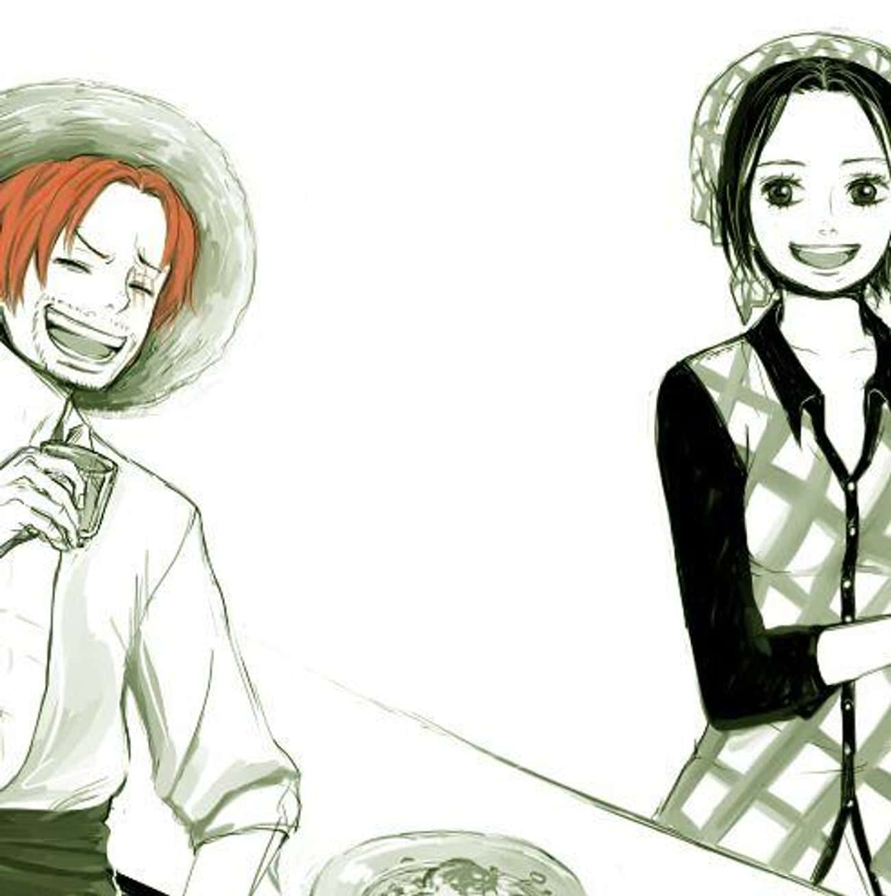 Shanks and Makino is listed (or ranked) 2 on the list The 15 Greatest One Piece Non-Canon Ships