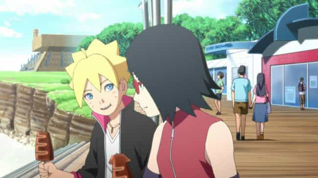 Boruto And Sarada is listed (or ranked) 4 on the list The 15 Greatest Non-Canon 'Naruto' Ships