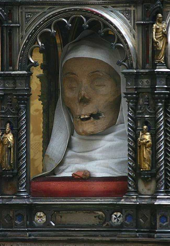 The Head Of Saint Catherine Tu... is listed (or ranked) 3 on the list Weird Phenomena Surrounding Religious Relics That No One Can Explain