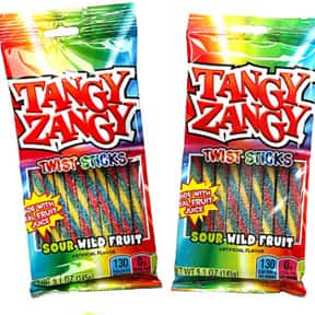 Tangy Zangy Twist Sticks is listed (or ranked) 25 on the list The Most Delicious Sour Candy