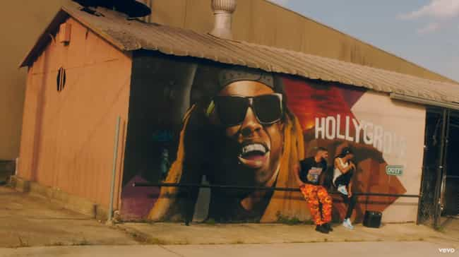 A Mural Of New Orleans Native ... is listed (or ranked) 4 on the list Fun Tidbits From Drake's 'In My Feelings' Video