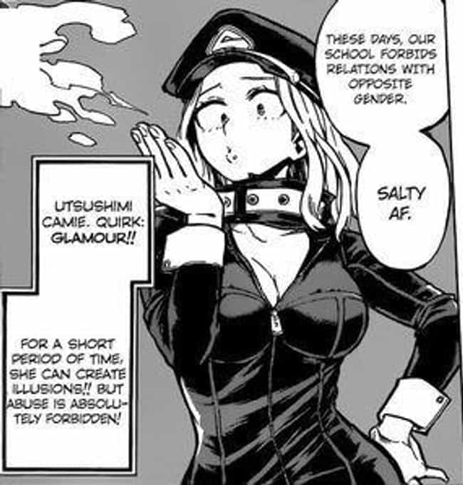 Glamour - Camie Utsushim... is listed (or ranked) 4 on the list The 15 Most Underrated Quirks From 'My Hero Academia'