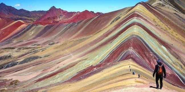 Ausangate Rainbow Mountains is listed (or ranked) 1 on the list The World's Most Unreal Geological Formations