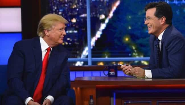Colbert's Highest Ratings ... is listed (or ranked) 7 on the list Historic Firsts Trump Claims To Have Achieved