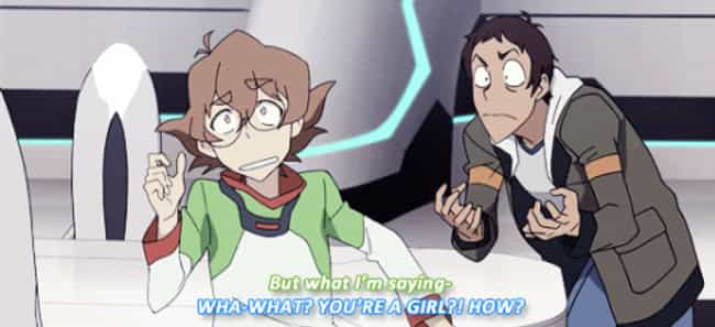 Keith Knew Pidge Was A Girl Al... is listed (or ranked) 1 on the list 9 Convincing Voltron: Legendary Defender Fan Theories