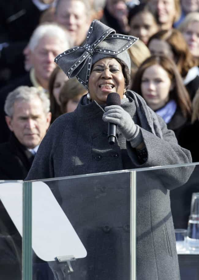 She Sang At Three Presidential... is listed (or ranked) 3 on the list You Will R.E.S.P.E.C.T. Aretha Franklin Even More When You Hear About Her Remarkable Life