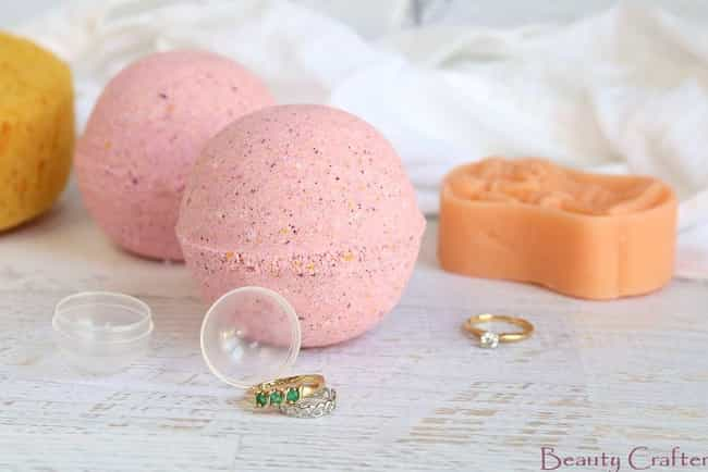 Bath Bomb With Ring Inside is listed (or ranked) 3 on the list The Best Ways to Make Your Own DIY Bath Bombs