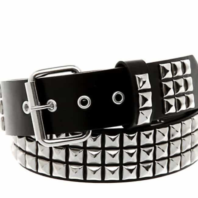 Pyramid-Studded Leather Belt is listed (or ranked) 1 on the list Stuff You Could Get At Hot Topic When It Was Still Edgy And Goth