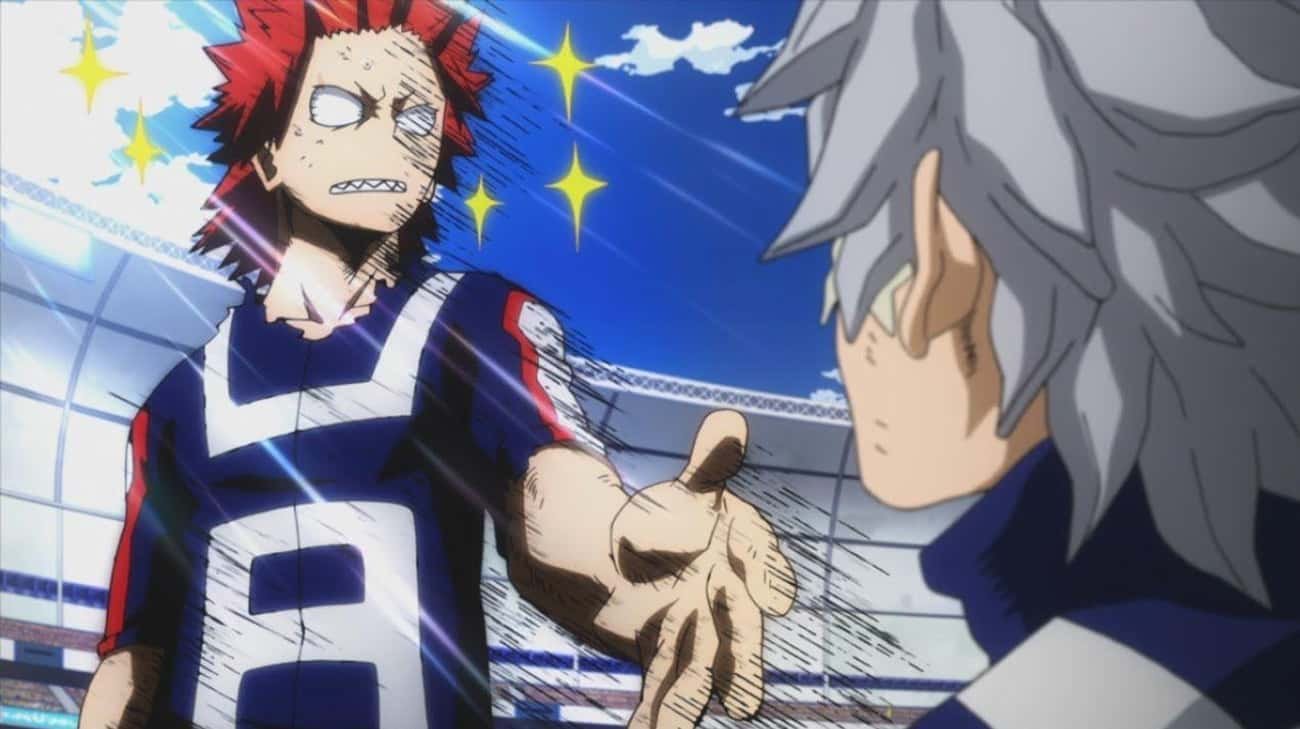 Kirishima And Tetsutetsu Have The Manliest Arm Wrestling Match Ever In 'My Hero Academia'