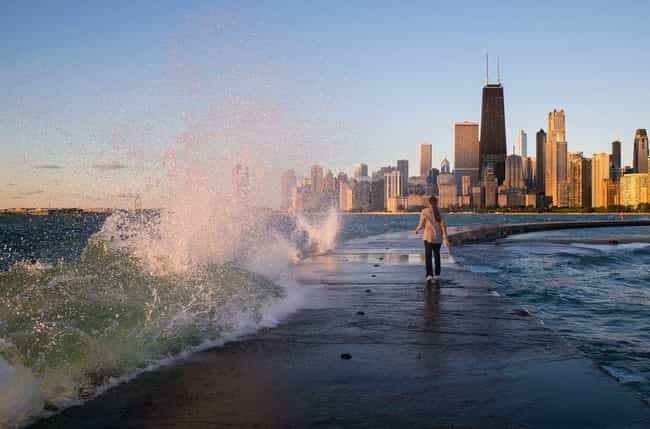 High Waves Can Knock Swimmers ... is listed (or ranked) 4 on the list All The Reasons To Be Careful Going Swimming in Lake Michigan