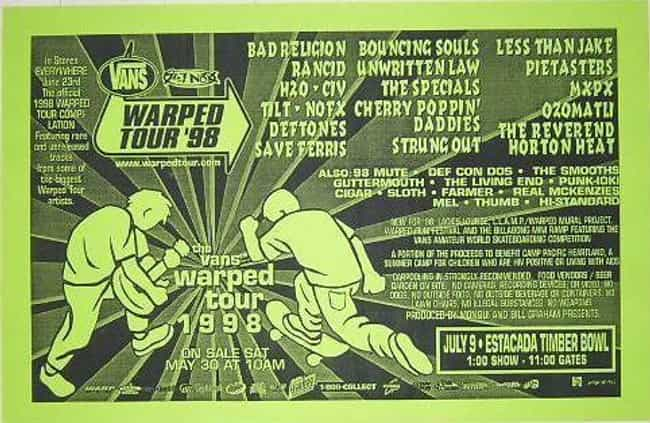 Warped Tour 1998 is listed (or ranked) 2 on the list All 24 Warped Tour Lineups, Ranked