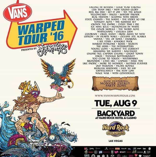 Warped Tour 2016 is listed (or ranked) 4 on the list All 24 Warped Tour Lineups, Ranked