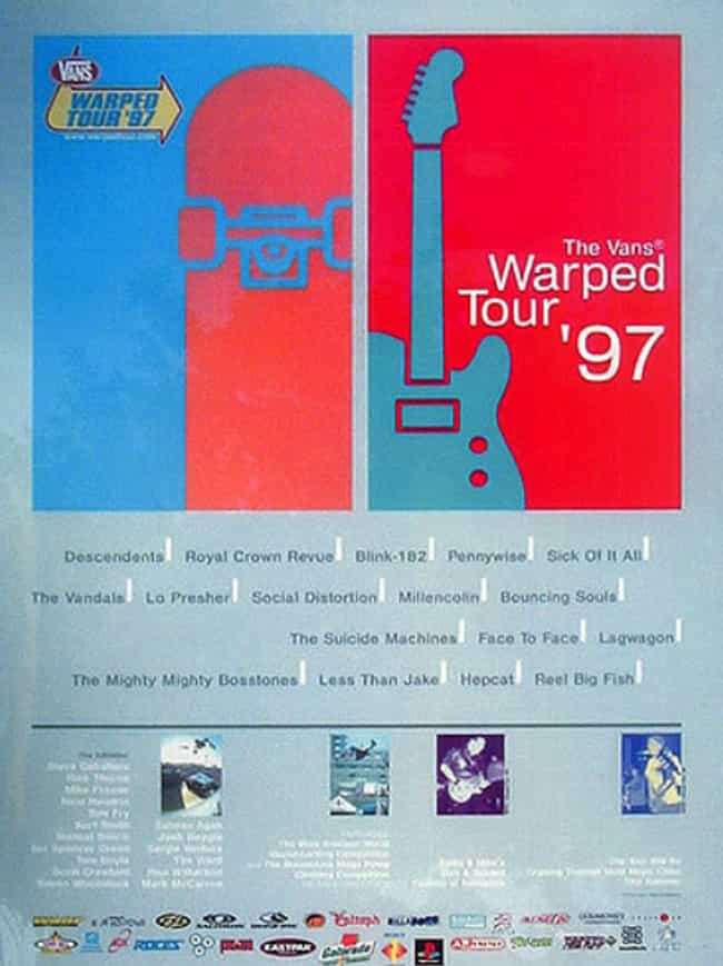 Warped Tour 1997 is listed (or ranked) 4 on the list All 24 Warped Tour Lineups, Ranked