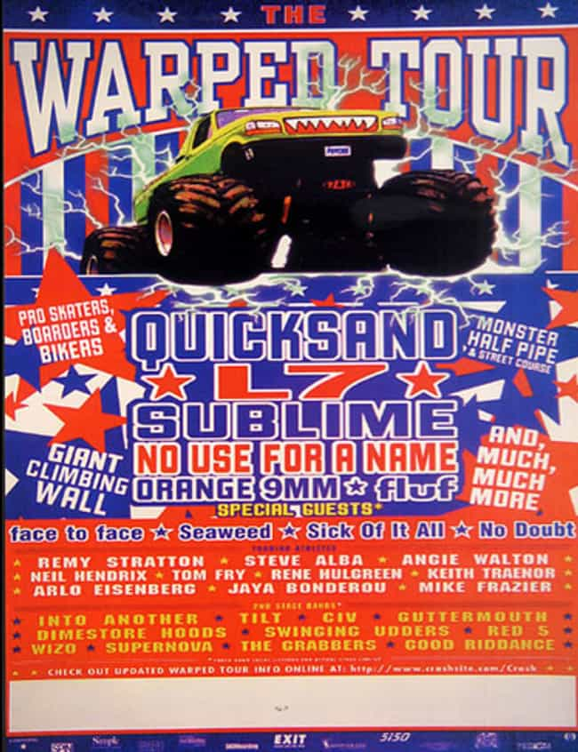 Warped Tour 1995 is listed (or ranked) 4 on the list All 24 Warped Tour Lineups, Ranked