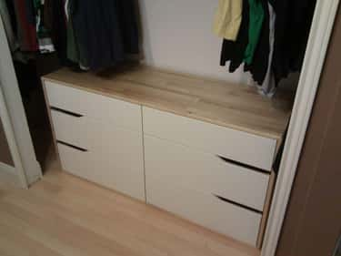 Closet Dresser is listed (or ranked) 1 on the list Dorm Decorating Hacks To Improve A Tiny Room On A Budget