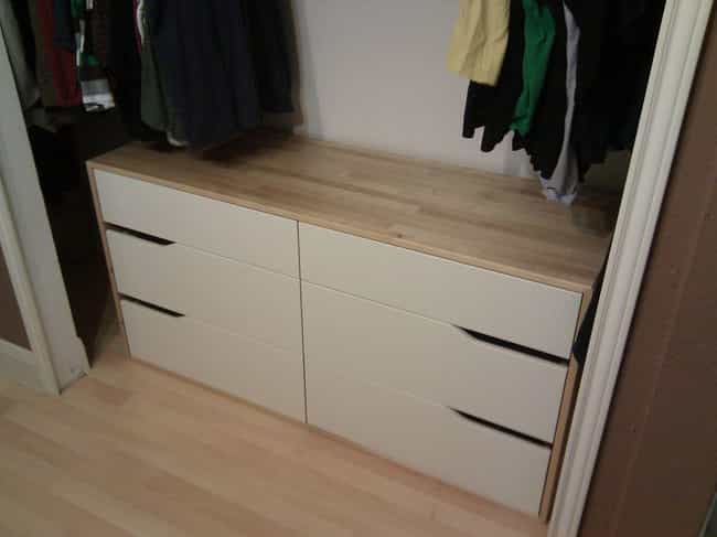 Closet Dresser is listed (or ranked) 4 on the list Dorm Decorating Hacks To Improve A Tiny Room On A Budget