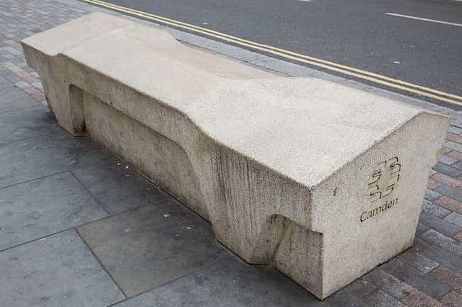 Slanted Benches Make Sitting U... is listed (or ranked) 1 on the list Hostile Architecture Is All Around You, But You Probably Never Noticed
