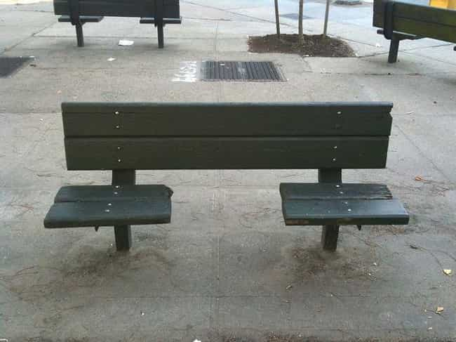 Segmented Benches Are One Of T... is listed (or ranked) 3 on the list Hostile Architecture Is All Around You, But You Probably Never Noticed