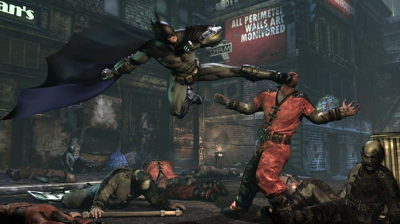 The Games Showcase Batman's Va is listed (or ranked) 2 on the list Why Rocksteady's Arkham Trilogy Is Superior To Christopher Nolan's Dark Knight Trilogy