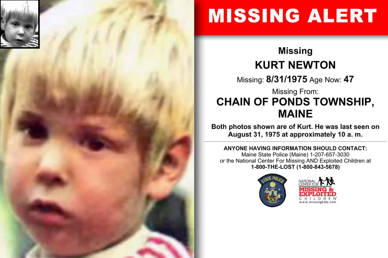 Four-Year-Old Kurt Newton Disa is listed (or ranked) 3 on the list The Scariest Unsolved Crimes And Mysteries From Maine