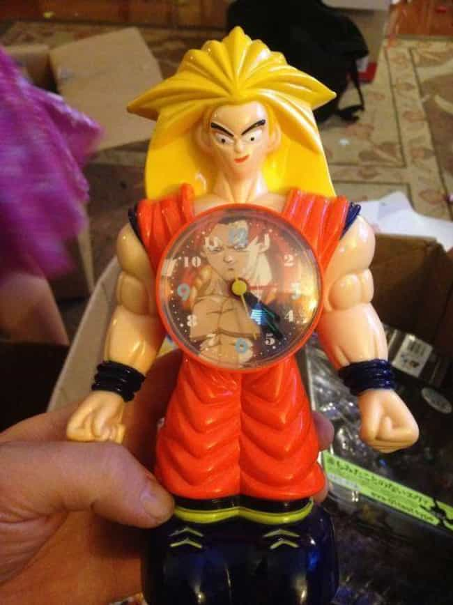 This Clock Has No Time is listed (or ranked) 3 on the list Laughably Bad Bootleg Dragon Ball Z Merch