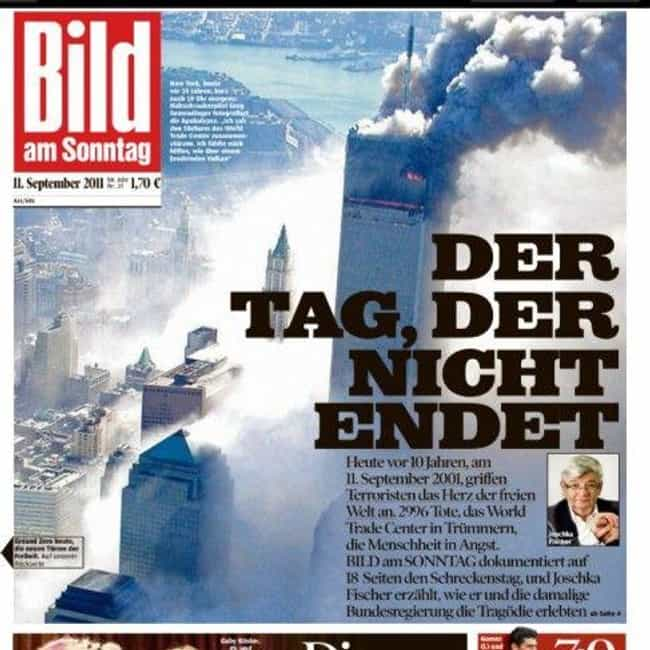 Germany: 'Bild Am Sonntag' is listed (or ranked) 4 on the list Here's What Newspapers Around The World Looked Like The Day After 9/11