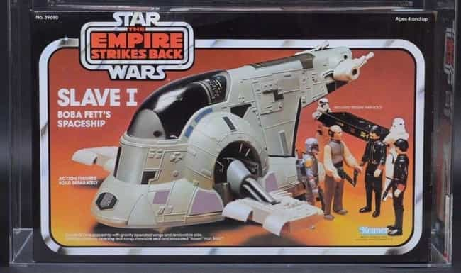 Slave I - $5,115 is listed (or ranked) 4 on the list Rare 'Star Wars' Toys That Are Worth A Ton Of Money