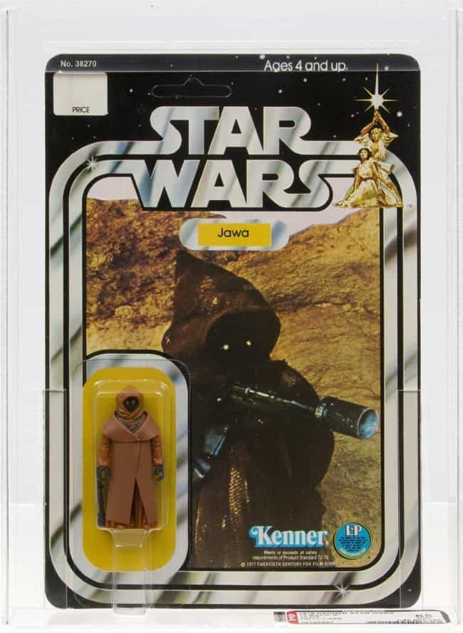 Vinyl Cape Jawa - $20,000 is listed (or ranked) 3 on the list Rare 'Star Wars' Toys That Are Worth A Ton Of Money