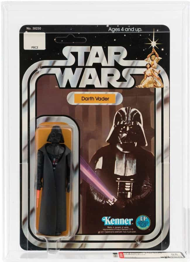 Darth Vader - $45,000 is listed (or ranked) 2 on the list Rare 'Star Wars' Toys That Are Worth A Ton Of Money