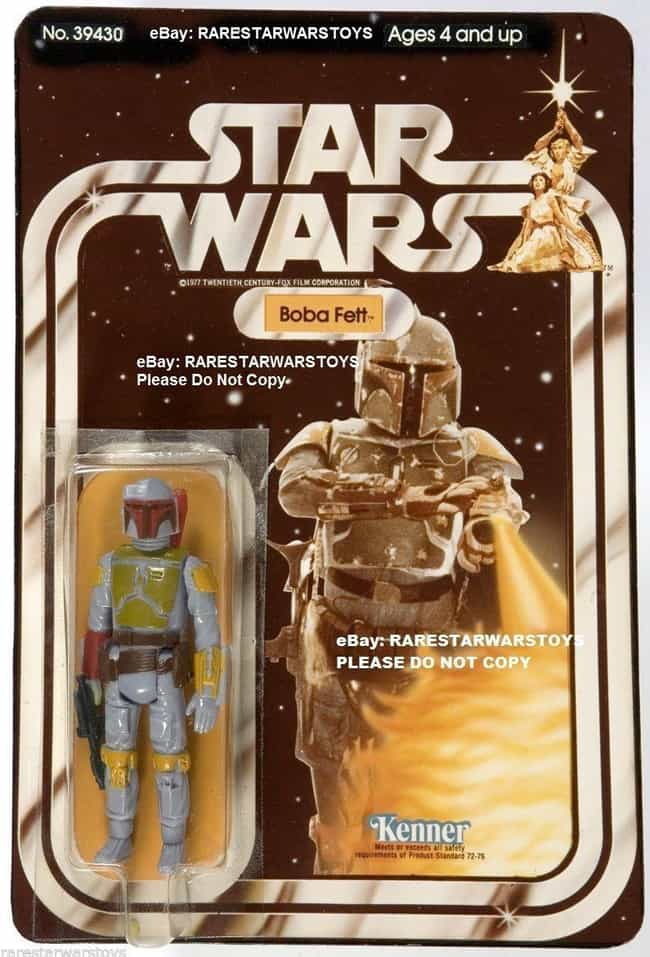 Rocket Launcher Boba Fett - $1... is listed (or ranked) 1 on the list Rare 'Star Wars' Toys That Are Worth A Ton Of Money