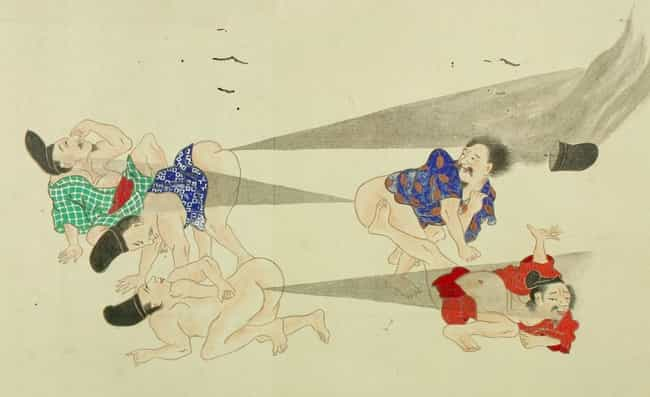 Rival Warriors Faced Off Durin... is listed (or ranked) 1 on the list Classical Japan's Epic Fart Battles Will Blow You Away