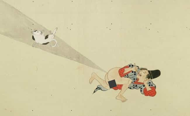Not Even Cats Were Safe is listed (or ranked) 3 on the list Classical Japan's Epic Fart Battles Will Blow You Away