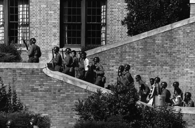 The Little Rock Nine Were Esco... is listed (or ranked) 4 on the list What Happened Immediately After Schools Were Desegregated In The US