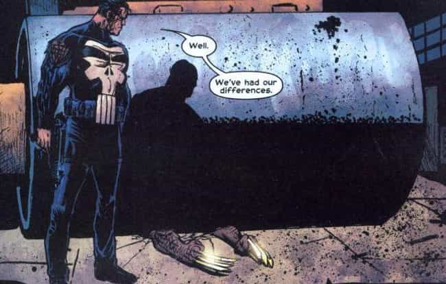 The Punisher Steamrolls ... is listed (or ranked) 4 on the list The Most Messed Up Things That Have Happened To Wolverine In The Comics