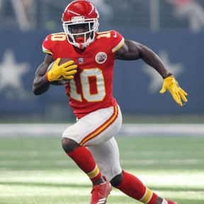 Tyreek Hill is listed (or ranked) 21 on the list The Best NFL Wide Receivers of the 2010s