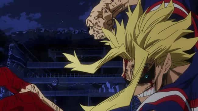 All Might Vs. One-For-All is listed (or ranked) 1 on the list The 14 Best My Hero Academia Fights (So Far)