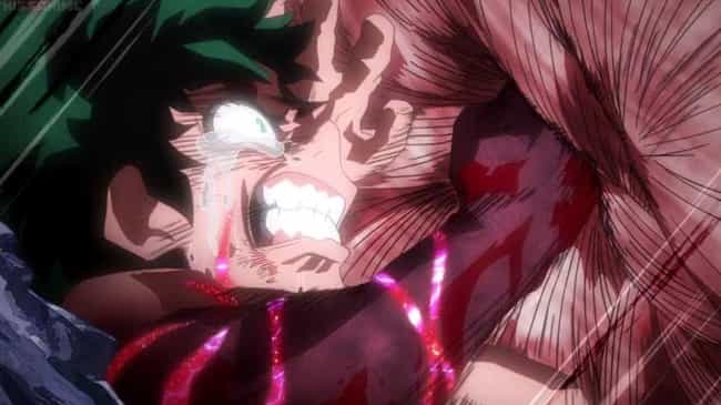 Deku Vs. Muscular is listed (or ranked) 4 on the list The 19 Best My Hero Academia Fights (So Far)