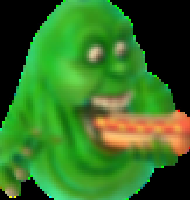 Slimer is listed (or ranked) 2 on the list 25 Ghosts We're Most Excited to Catch in 'Ghostbusters World'