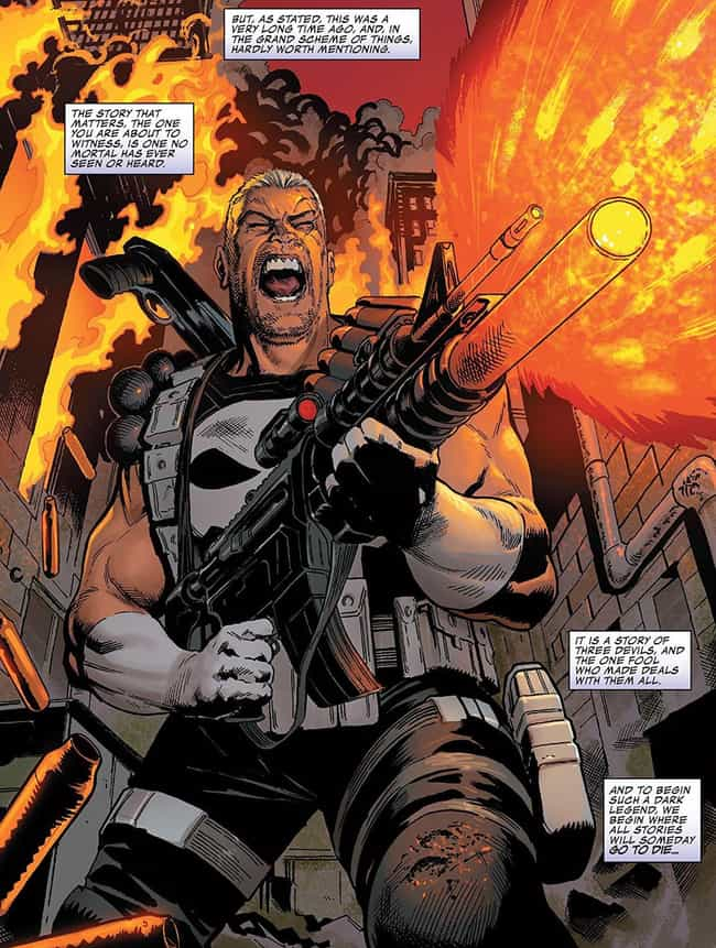 It All Starts When Thanos Thro... is listed (or ranked) 2 on the list How The Punisher Became The Cosmic Ghost Rider And Why He's Road-Tripping With A Baby Thanos
