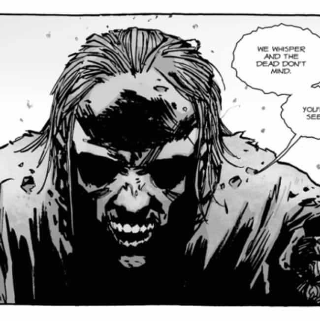 They Communicate Through Whisp... is listed (or ranked) 4 on the list Everything You Need To Know About 'The Walking Dead's' New Villains, The Whisperers