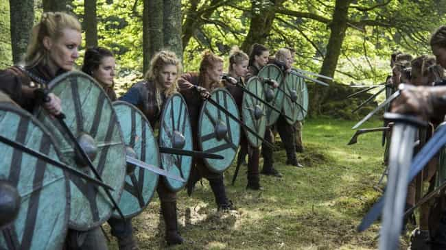 Shield-Maidens Fought Alongsid... is listed (or ranked) 5 on the list What It Was Like To Be On The Front Lines Of A Viking Raid