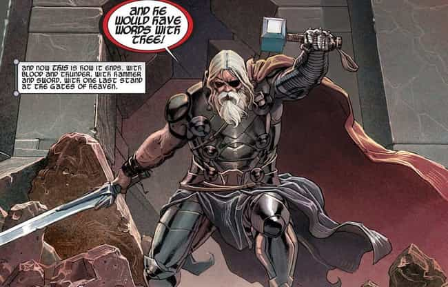 This Version Of Thor Is Missin... is listed (or ranked) 4 on the list There's Already A Future Where Thor Rules The Earth, But It's Much Less Awesome Than It Sounds