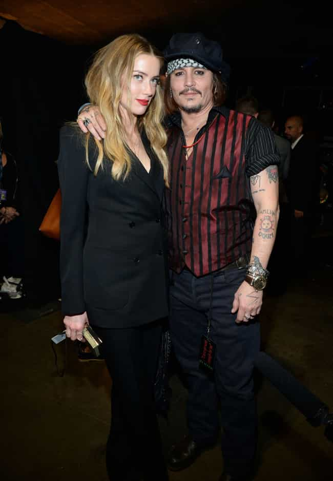 Johnny Depp & Amber ... is listed (or ranked) 3 on the list Celebrity Couples Who Married Without Prenups