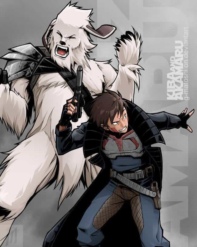 Kiba And Akamaru As Han And Ch... is listed (or ranked) 3 on the list The 23 Most Incredible Naruto Crossover Art Mashups