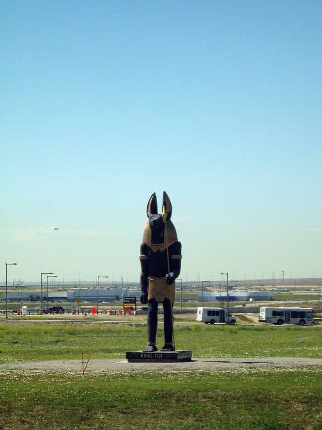 A Statue Of Anubis, The God Of... is listed (or ranked) 3 on the list Supposed Hidden Messages In Denver Airport Artwork, According To Conspiracy Theories